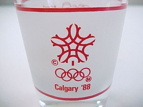 1988 Calgary Olympic Glasses http://www.bonanza.com/listings/Vintage-1988-Calgary-Olympics-Shot-Glass/42742059