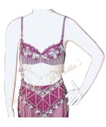 Harem Belly Dancer Costume 4pc Set Berry Plum S... - $99.99