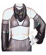 Harem Belly Dancer Costume 5pc. Set Black Size ... - $79.99