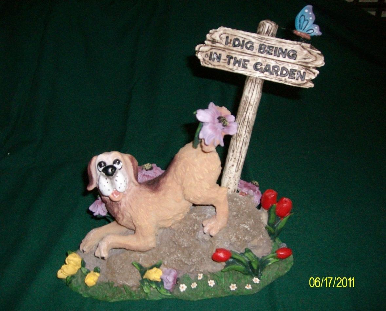 Puppy Digging Garden