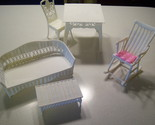 Buy Furniture - Barbie furniture 1997 Rocker table chair Armoire vanity LOT
