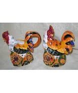 Colorful Rooster, Ceramic, Sugar Bowl and Cream... - $27.00
