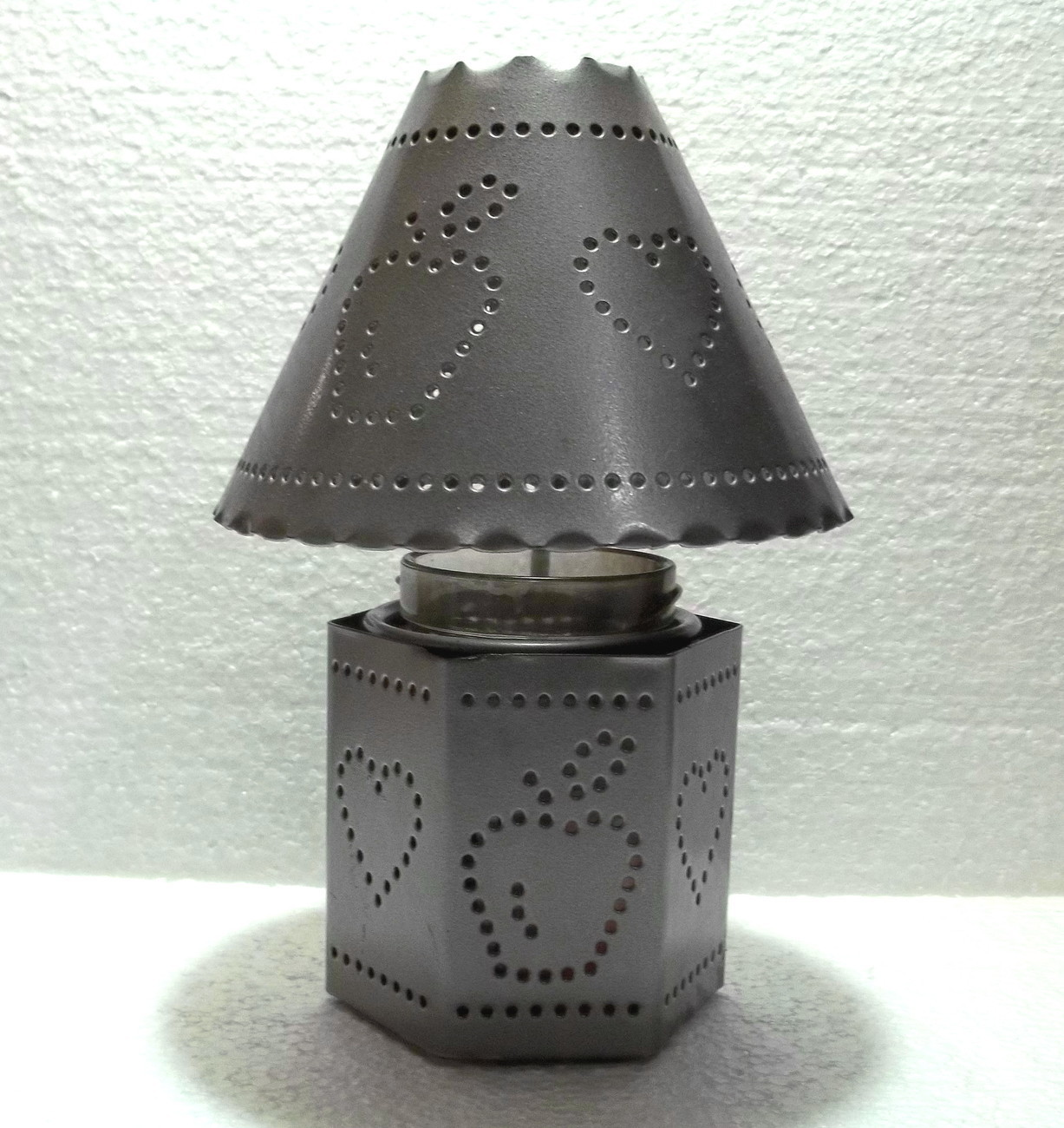 Home Interiors Pierced Tin Candle Holder And Shade
