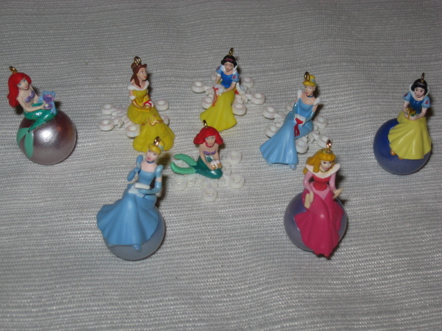 Hallmark Disney Snowflake & Royal Princesses Mini Ornaments
