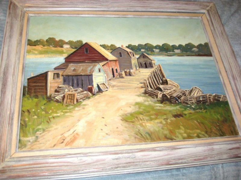 LISTED ARTIST GEORGE H BIGELOW OIL PAINTING NEW ENGLANG