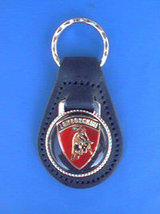 LAMBORGHINI LEATHER KEYCHAIN KEY CHAIN RING FOB... - $3.75