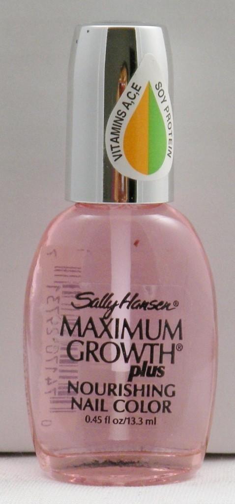 Sally Hansen Maximum Growth Nail Color- Quick Dry Top Coat #01 - Nail Polish
