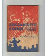 Sing Sociability Songs, 1952   Softcover - $5.25