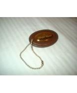 Aigner Leather Purse Fob Hang Tag Purse Charm - $6.99