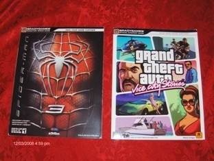 GTA Vice City& Spiderman 3 Strategy Guides PS3/Wii New