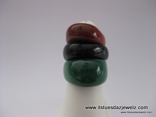 Domed Agate Rings