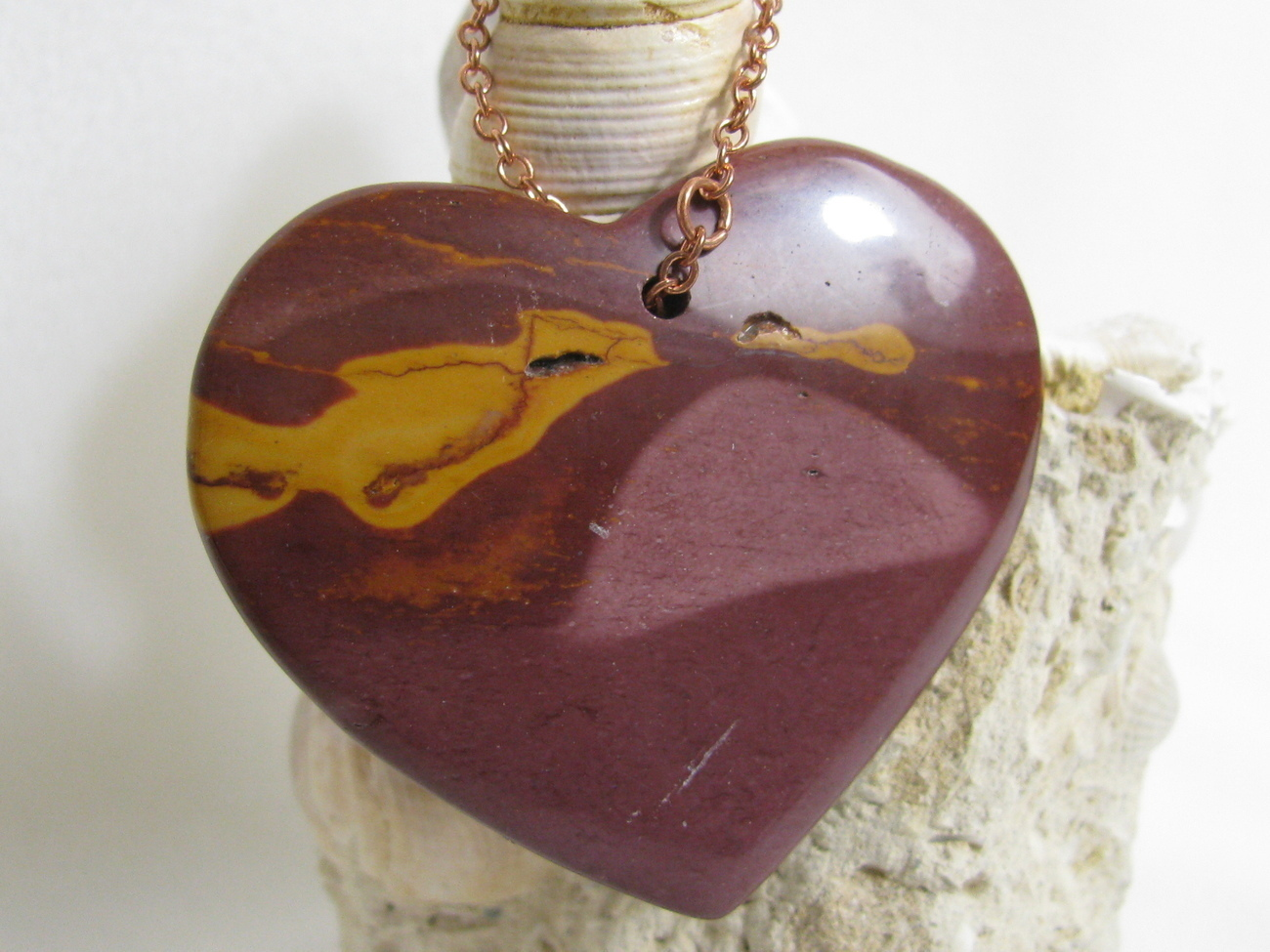 Mookaite Jasper Heart Pendant RKMixables Copper Collection