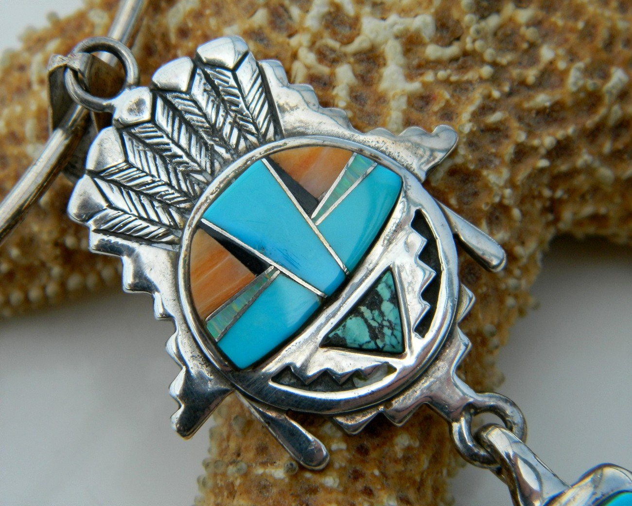 Calvin_begay_pendant_necklace_sterling_silver_turquoise_native_american