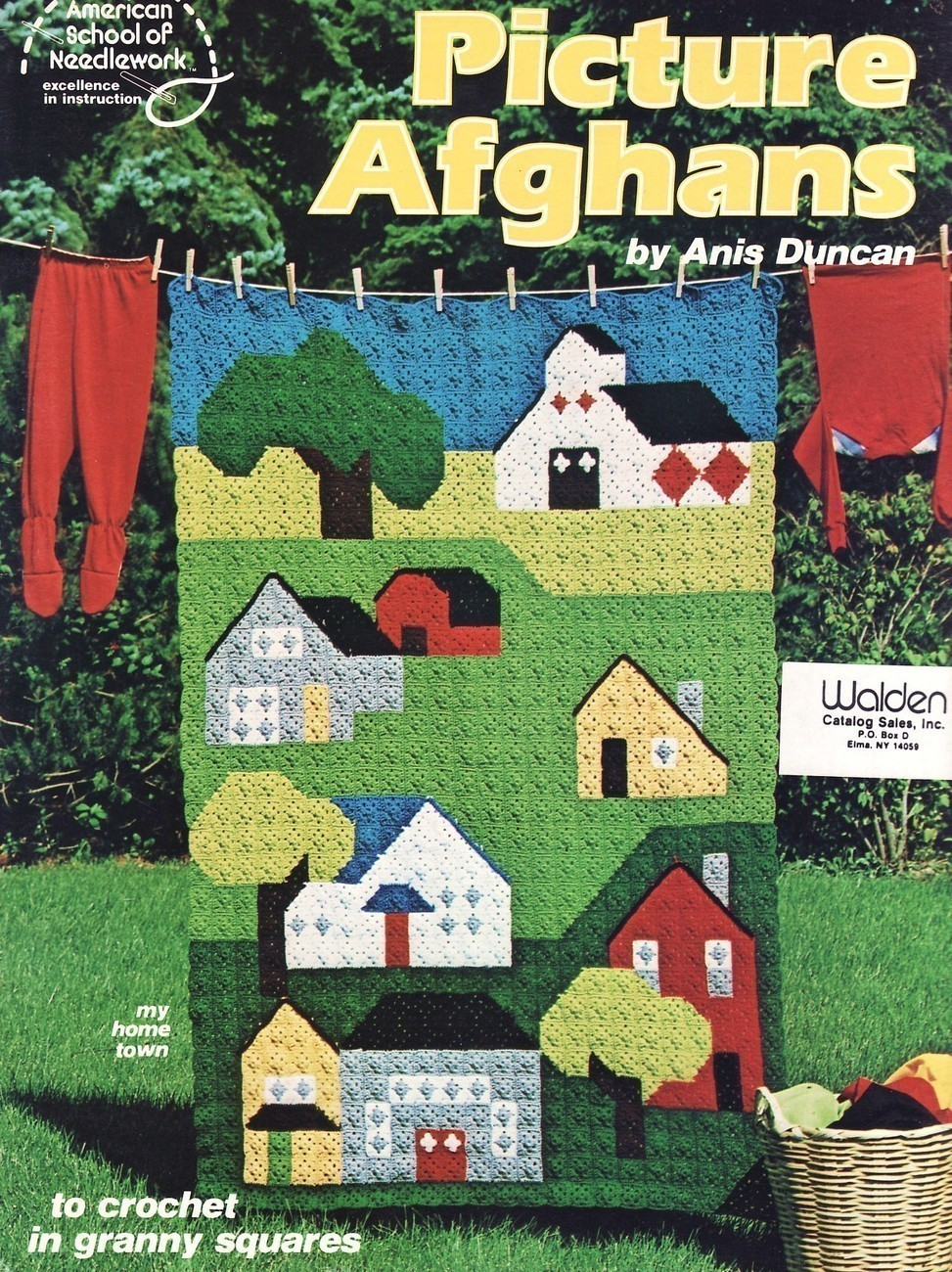 Free Crochet Pattern 10207 Big Granny Square Afghan : Lion Brand
