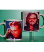 Mickey Rourke 2 Photo Designer Collectible Mug - $14.95
