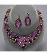 Graceful runway purple amethyst crystal necklac... - $49.49