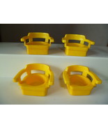 VINTAGE FISHER PRICE LITTLE PEOPLE 4 YELLOW CAP... - $6.00