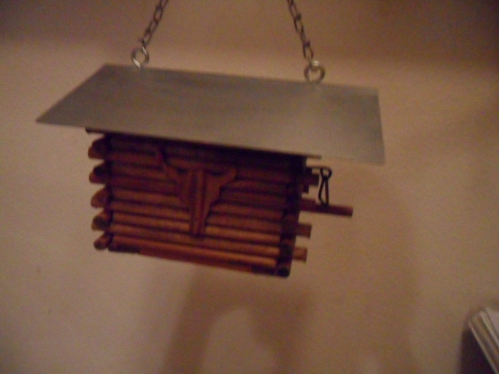 Texas Log Cabin Bird House Hand made in Texas