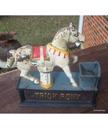 COLLECTIBLE TRICK PONY MECHANICAL BANK CAST IRO... - $125.00