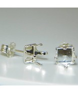 6mm SQUARE Snap Tite Sterling Silver Earring Se... - $2.30
