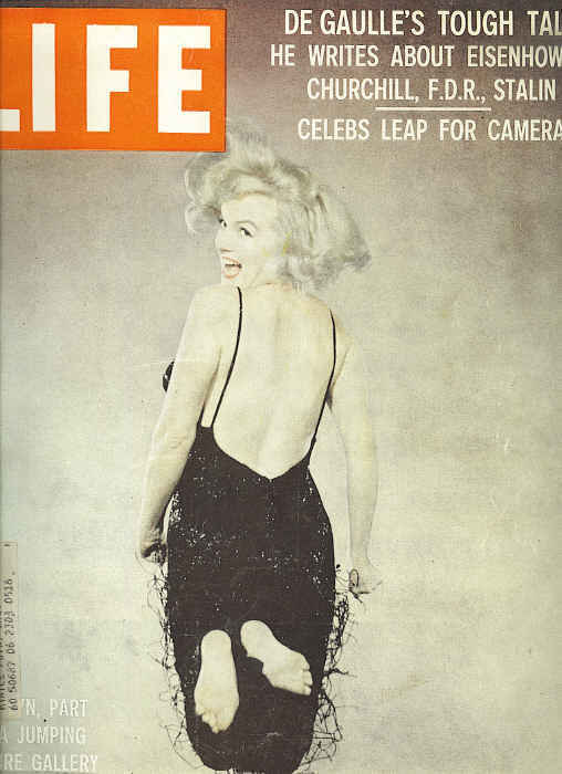 1959 Life Magazine With Maryln Monore On The Cover