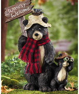 Northwoods Woodsy Welcome Bears Garden Statue New - $15.95
