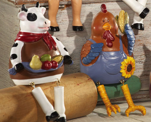 Image 1 of 6 Pc Country Barnyard Animals Collectible Sitters New