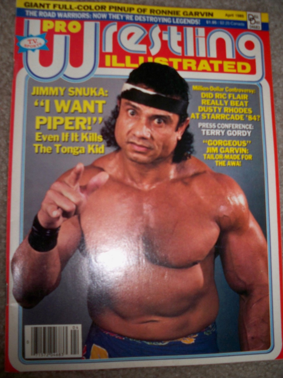 Pro Wrestling Illustrated April 1985 Jimmy Snuka WWE WWF NWA