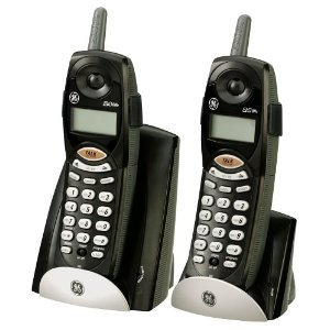 GE 2.4 GHZ Cordless Phone, Dual Handset Bundle With Call Waiting Caller ID