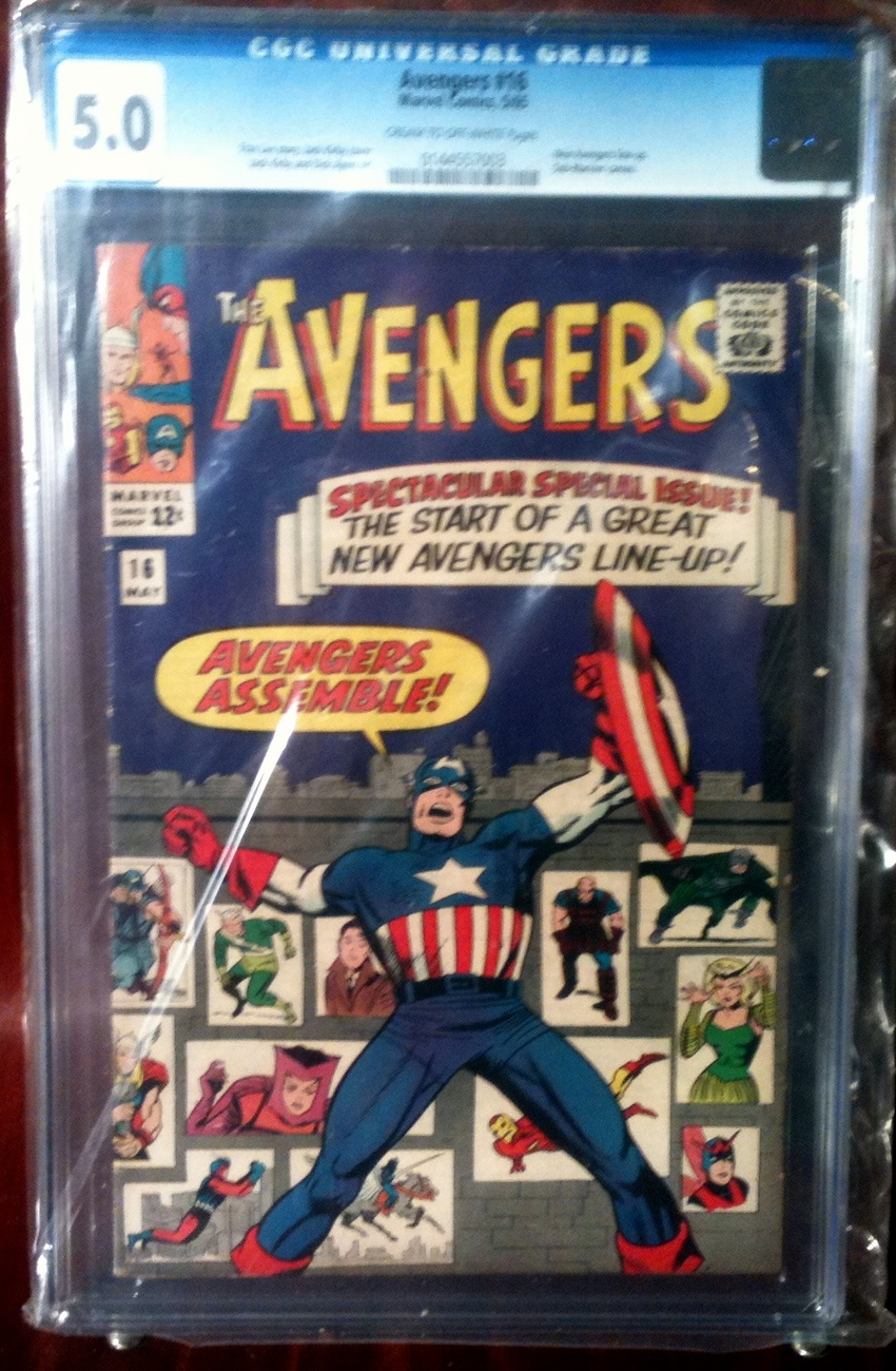 Avengers (1963) # 16 CGC Graded 5.0 VG Very Good