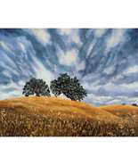 California Dramatic Golden Hill Oak Tree Gray L... - $799.00