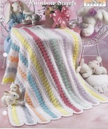Rainbow Swirls Baby Afghan Crochet Pattern