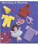 Mini Ginny & Wardrobe~Doll & Clothing Crochet P... - £8.26 GBP