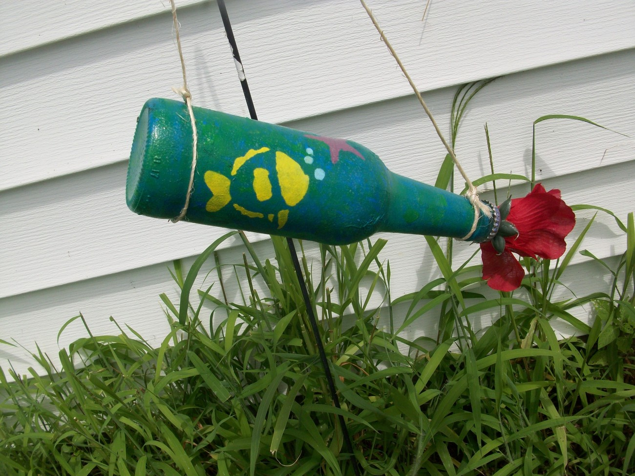 Recycled Bottle Humming Bird Or Butterfly Feeder Fish