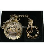 Disney Mickey Mouse  Railroad Pocket Watch w/ chain NEW - $251.57
