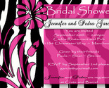 Buy baby shower invitations - 50 Bridal Baby Birthday Shower Invitations ZEBRA CUSTOM