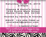Buy Announcements - <Bridal Baby Birthday Shower Invitations ZEBRA LEOPARD&gt