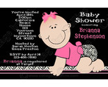 Buy Announcements - Invitation BABY GIRL Shower ZEBRA Personalized PARTY JG