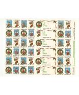 1986 Christmas Seal Sheet, Mint Condition, Amer... - $3.25