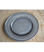 Vintage 1930 Viking Plate Silverplate Round Tray  - $13.01