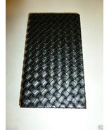 BLACK BASKET WEAVE DESIGN FAUX LEATHER HARDBACK... - $13.99