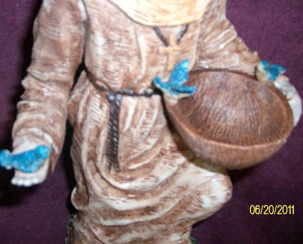 Image 2 of St. Francis Bird Feeder Statue