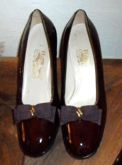 "Ferragamo Ladies Shoes 3"" Heel Brown 9.5B"