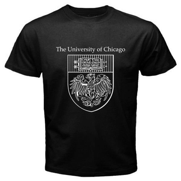 the university of chicago logo symbol mens white and black