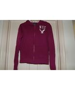 American Eagle Zip up Hoodie Sweatshirt Magenta... - $10.00