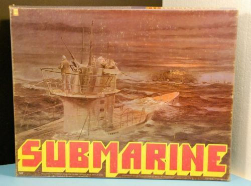 SUBMARINE NAVAL WAR GAME - AVALON HILL 1977 EXCELLENT!