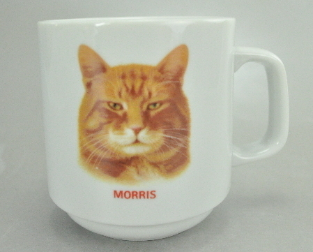 Papel Morris the Cat Orange Tabby White Coffee Mug