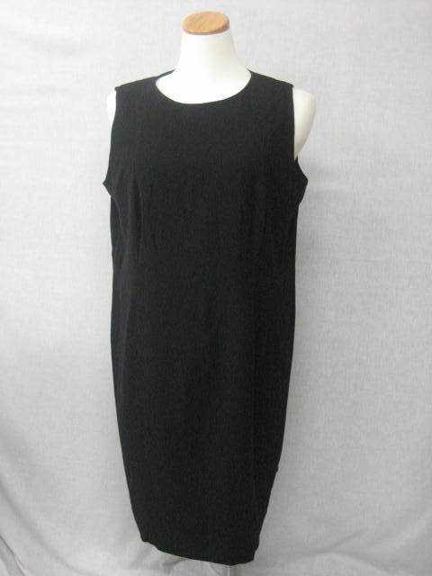 CALVIN KLEIN Black Stretch Dress Plus Size 24W NEW