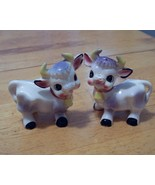 Vintage set of Purple Cow Salt & Pepper Shakers - $9.99