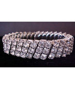 Fun Glittery Vintage Expansion Stretch Rhinesto... - $12.95